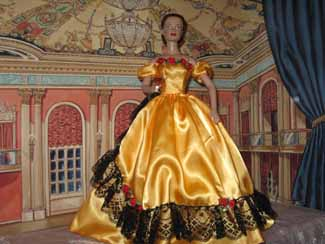 Belle gold gown
